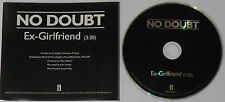 No Doubt - Ex-Girlfriend - U.S. promo cd  -Rare!