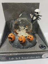 Nightmare Before Christmas LIGHT UP Jack Skeleton Zero MUSICAL Snow Globe