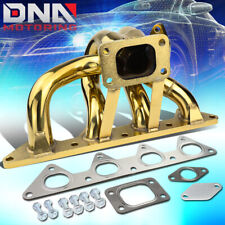FOR 92-96 HONDA PRELUDE H23 ENGINE GOLD T3 TURBO EXHAUST MANIFOLD+38MM WG PORT