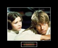 "STAR WARS Luke & Leia / Death of Ben Kenobi 8""x10"" Photo-11""x14"" Black Matted"