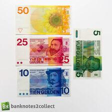 More details for netherlands: set of 4 dutch guilder banknotes.