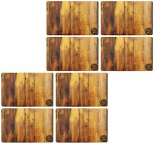SET OF 8 KING OF THE GRILL PLACEMATS WOODEN DESIGN /TABLE MATS
