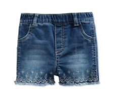 First Impressions Girl Embroidered Denim Shorts 24 Months NWT