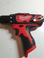 "Milwaukee Drill Driver 2407-20 M12 12V Li-Ion Cordless 3/8"" New"