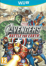 MARVEL AVENGERS BATTLE FOR EARTH for Nintendo Wii U - with box & manual - PAL