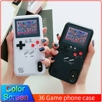 36 Video Games Game-Boy Shape Phone Cover Case Color Display for iPhone 7 8 X XS