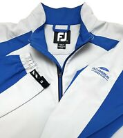 C55 FootJoy Gray Blue 1/2 Zip Golf Pullover Mens Size L 100% Polyester