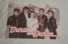 "Vintage  Rare "" DURAN DURAN ""  Iron-On Transfer  FULL   COLOR"