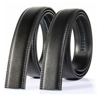 125-130cm Mens Genuine Leather No Automatic Buckle Strap Waist Belts Waistband