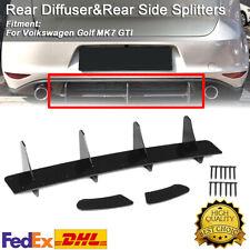 For Volkswagen VW GOLF VII 7 MK7 GTI Rear Bumper Diffuser + Rear Side Splitters