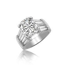 Platinum Cushion Cut 3.50 carat Diamond Engagement Ring GIA Certified