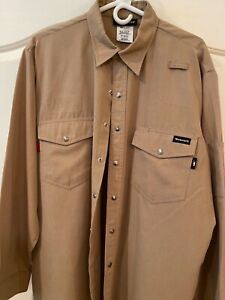 Workrite Flame Resistant Safety Shirt Nomex Utility Style FR Clothes EUC