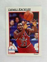 Ledell Eackles Washington Bullets 1991 NBA Hoops Basketball Card 213