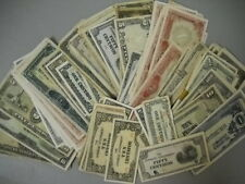 8 Notes Japanese Occupation Currency WWII Phillipines and India FREE Shipping