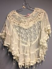 Lace poncho top for women Halloween