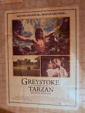 Affiche publicitaire cinéma Greystoke la légende Tarzan 1984 Hugh Hudson