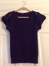Papaya Purple Size 8 Sleeveless Knitwear Jumper