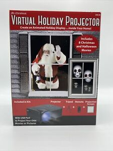 Virtual Holiday Projector w/Tripod Remote Projection For Window Animation