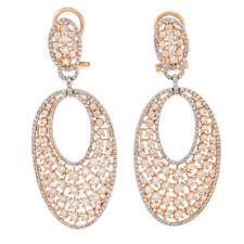 Handmade Rose Gold Fine Diamond Earrings