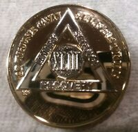43 YEAR AA GOLD/SILVER Tone Bi-Plated Alcoholics Anonymous CHIP COIN MEDALLION