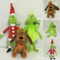 """3PC 12"""" Grinch How the Stole Christmas Kids Stuffed Toy Kids Birthday Xmas Gift"""