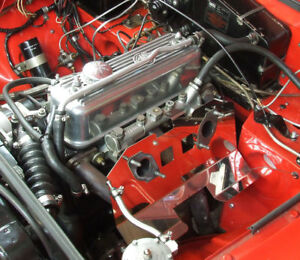 MGB Carburettor Heat Shield Twin SU HIF4 Polished Stainless Steel