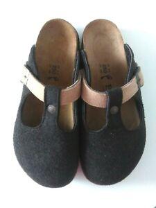 Betula Women's Clogs Felted Wool Brown Birkenstock Comfort Size 39