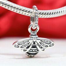 Authentic Pandora Silver Sparkling Queen Bee Pendant Charm 398840C01