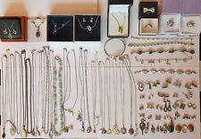 Job Lot 350g Of 925 Silver Jewellery Necklaces Earrings Bracelets Semi  Precious