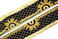 Vintage Indian Sari Border Used Trim 1 Yd Women Antique Sari Trim Ribbon ST2034