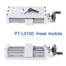 Pt Lx100 Manual Xyz Axis Sliding Table Ball Screw Cnc Linear Rail Stage 130mm