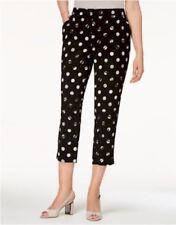 Alfani Black/Grey Soft Polka Dot Slim Leg Capri Pants Size 6 MSRP $69   158