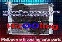 52MM Aluminum Radiator + Fans for HOLDEN Commodore VG VL VN VP VR VS V8