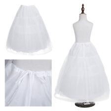 Kinder Reifrock Mädchen Unterrock Tüll Crinoline Petticoat Rock Underskirt Weiß