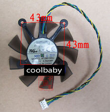 ASUS  R128015SU  Graphics card cooling fan DC12V   0.50A  4Pin
