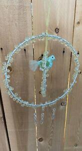 Pottery Barn Kinder Kristall Grün Wandbehang Vogel Perch Dekor 40.6cm