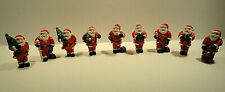 Santa Claus Figurine Lot of Nine