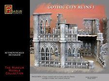 Pegasus 4930 Gothic City Ruins Set #1 28 mm Plastic Model Kit for Dioramas
