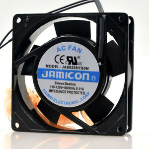 1pc JAMICON 9CM 9025 JA0925H1S0N 110-120V 2-wire Metal Frame Cooling Fan