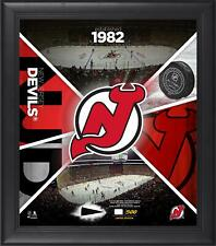 """New Jersey Devils Framed 15"""" x 17"""" Team Impact Collage with a Piece of Gu Puck"""