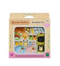 Sylvanian families meubles & accessoires 5024 petit déjeuner set/3+ ans neuf