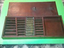 Antique Vintage Wooden Drill Bit Box Empty wood storage box