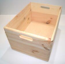 Exquisite Set of 4 Boxes Stack Up Storage Crates Hamper Wooden Home Decor BULK