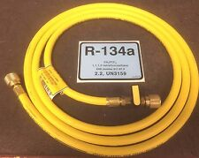 """New listing R134a Cps Refrigeration Hose 8' or 96"""" Yellow With Ball Valve, 1/2"""" Acme R134a"""