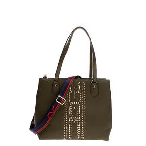 RRP €155 ROBERTA DI CAMERINO Tote Bag PU Leather Studded Structured Design