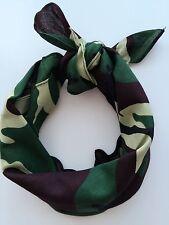 Women Men Hip hop Cotton dance camo army green Bandana Hair Headband Wrap Scarf