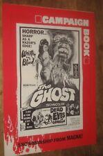 THE GHOST '66  Barbara Steele HORROR . pressbook