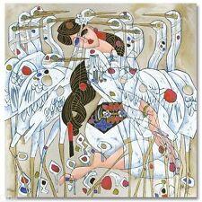 JIANG TIEFENG Morning With Cranes LE Serigraph #258/293 COA