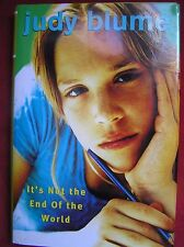 Judy Blume - Signed - It's Not the End of the World (Hardcover, 2002)