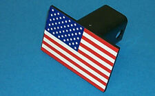 "United States Flag Trailer Hitch Cover 30000; Fits 1-1/4"" Square Receivers"